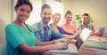 Creative business team smiling at camera Royalty Free Stock Photo