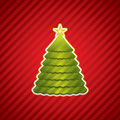 Creative Christmas tree Royalty Free Stock Photography