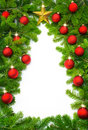 Creative Christmas tree border Stock Images