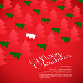 Creative christmas tree formed from cut out paper vector illustration of Stock Photo