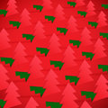 Creative christmas tree formed from cut out paper vector illustration of Royalty Free Stock Image