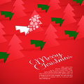 Creative christmas tree formed from cut out paper vector illustration of Stock Image