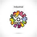 Creative circle abstract vector logo design template. Royalty Free Stock Photo