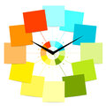 Creative clock design with stickers for your text Stock Images
