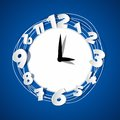 Creative clock a illustration Royalty Free Stock Photos