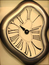 Creative clock irregular shape unique wall Stock Photo