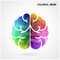 Creative colorful brain idea concept background left and right vector illustration contains gradient mesh Royalty Free Stock Photography