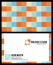 Creative colorful business card used font bebas neue continuum Stock Photos