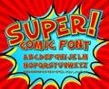 Creative Comic Font. Vector Al...