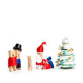 Creative congratulatory xmas postcard. Wooden Royalty Free Stock Photo