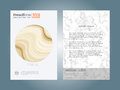 Creative cover design layout template, Marble texture background, Inspiration for your design