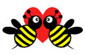 Creative design bee love icon Royalty Free Stock Photo