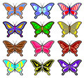 Creative design of butterfly collection Royalty Free Stock Photos