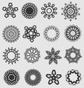 Creative design elements elegant ornament resource element collection for embellishment Royalty Free Stock Images