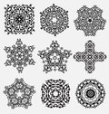 Creative design elements originally created ornament collection for embellishment Royalty Free Stock Image
