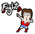 Creative design of fight cartoon Royalty Free Stock Images
