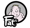 Creative design icon fat baby Stock Photography