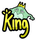 Creative design king frog Royalty Free Stock Photos