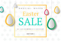 Creative Easter abstract social media web banners for cell phone Royalty Free Stock Photo