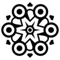 Creative Flower Mandala Ornaments. Oriental pattern - Vector