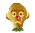 Creative food. Funny face made from pears  and oranges Royalty Free Stock Photo