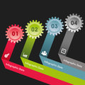 Creative gears info graphics options banner illustration of Stock Images