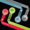 Creative gears info graphics options banner illustration of Stock Photo