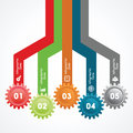 Creative gears info graphics options banner illustration of Royalty Free Stock Images