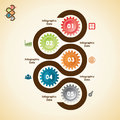 Creative gears info graphics options banner illustration of Stock Image