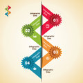 Creative gears info graphics options banner illustration of Royalty Free Stock Photos