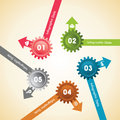 Creative gears info graphics options banner illustration of Royalty Free Stock Photography