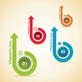 Creative gears info graphics options banner illustration of Royalty Free Stock Image