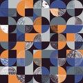 Creative geometric and handdrawn seamless pattern