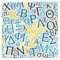creative Greek alphabet texture background Royalty Free Stock Photo