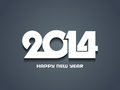Creative happy new year design elegant vector illustration Stock Image