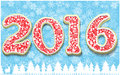 Creative happy new year in shape of gingerbread design year number as cookies on snowflakes background vector image for s Stock Photos