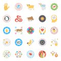 Creative Horoscope, Numerology and Astrology Flat Icons