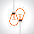 Creative idea in bulb shape as inspiration concept. Vector design element. Royalty Free Stock Photo