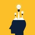 Creative idea concept flat design