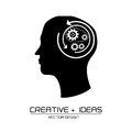 Creative ideas design over white background vector illustration Stock Photo