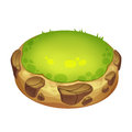 Creative Illustration and Innovative Art: Cute Green Island. Royalty Free Stock Photo