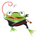Creative Illustration and Innovative Art: Frog Ninja - Character Design. Royalty Free Stock Photo