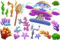 Creative Illustration and Innovative Art: Under the Sea Object Set 4.