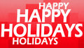 Creative image of happy holidays Stock Photo