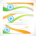Creative indian flag headers Stock Photography
