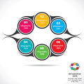 Creative infographic design creativecolorful round infographics stock vector Stock Photos