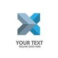 Creative letter X logo