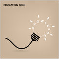 Creative light bulb, education sign Royalty Free Stock Photography