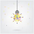 Creative light bulb idea concept background design for poster flyer cover brochure business abstract vector Stock Photo