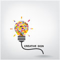 Creative light bulb idea concept background design for poster flyer cover brochure business abstract vector Royalty Free Stock Photo